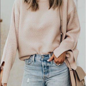 TOPSHOP • Moss Stitch Boxy Wide Sleeve Sweater 2